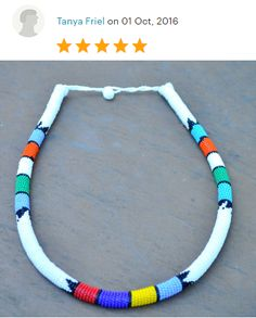 White Rope NecklaceBeaded African NecklaceWhite by akwaabaAfrica White Necklace, Rope Necklace, White Rope, African Necklace, White Beads, Thoughtful Gifts, Headpiece, Jewelry Making, Buy And Sell