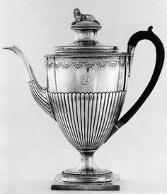 Silver Coffeepot with Ebonized Wood Handle, 1800-01. Richard Cook. Museum of Fine Arts, Boston.