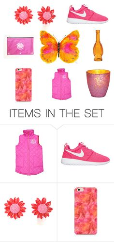 """""""Think Pink"""" by le-vintagegalleria ❤ liked on Polyvore featuring art"""