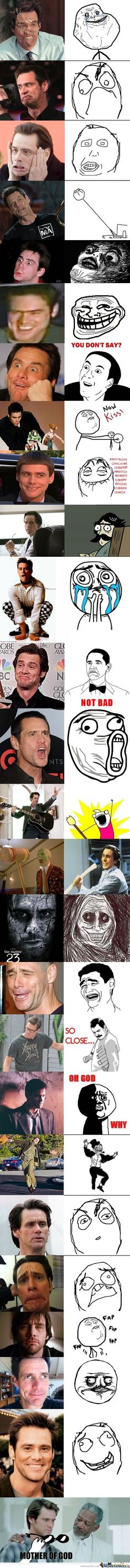 Jim Carrey & Rage Faces - Meme Center