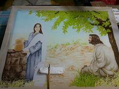 예수님과 사마리아여인 그리다가 올려요.20호