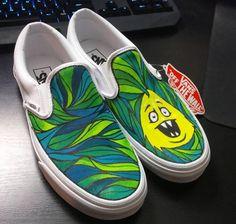 Check out these rad Slip-on's Vans Custom Culture ambassador artist Evan Eckard painted!