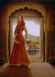 """Illustration by Tim O'Brien for """"JAHANARA: Princess of Princesses, India, 1627"""" by Kathryn Lasky in the children's novel series """"The Royal Diaries""""."""