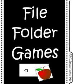 Free File Folder Games - Colors, Shapes, Letters, Phonetic Sounds, and Bible