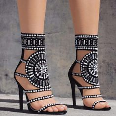 Cheap High Heels, Buy Directly from China Suppliers:Sexy Gladiator Women Sandals High Heels Rhinestone Sandals Women Pumps Shoes Summer Sandals Party Shoes Woman Black High Heels, High Heels Stilettos, Stiletto Heels, Shoes Heels, Pumps, Strappy Shoes, Sandal Heels, Gold Heels, Heeled Sandals
