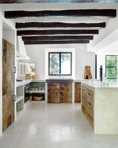 Mediterranean homes – Mediterranean Home Decor Sweet Home, Interior Architecture, Interior Design, Concrete Kitchen, Concrete Counter, Concrete Wood, Mediterranean Decor, Mediterranean Architecture, Küchen Design