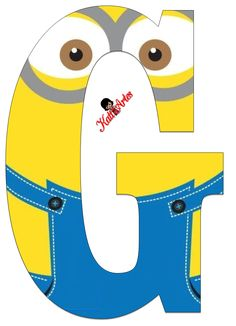 Typography - Minion Alphabet - Letter G Minion Theme, Minion Birthday, Minion Party, My Minion, Boy Birthday, Birthday Themes For Boys, Despicable Me, Alphabet And Numbers, Printables