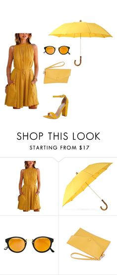 """""""natural spring set"""" by amelikan23 on Polyvore featuring moda, London Undercover, RetroSuperFuture i Steve Madden"""