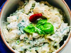 Fokhagymás-joghurtos gombasaláta - HENI SÜT NEKED Potato Salad, Rice, Potatoes, Ethnic Recipes, Food, Potato, Essen, Meals, Yemek
