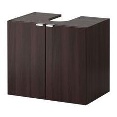 IKEA - LILLÅNGEN, Wastafelkast met 2 deuren, zwartbruin,