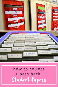 A great and easy way to collect and pass back student papers in your classroom! Such an effective classroom organization tool and idea. A definite must-use for teachers!