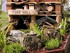 Shows you how to make a toad House. Its by Biotope City. House attracts the bugs and the toad eats them. Awesome idea.