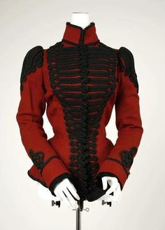 Womans jacket, hussar style late 19th century