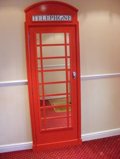 London Telephone Box Mirror - make for closet door