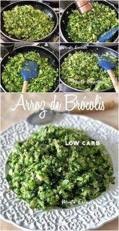 Você só precisa de brócolis e 15 minutos para fazer este Arroz low carb de Brócolis. Para lá de gostoso! Basta, com uma faca, cortar os florestes em pedaços pequeninos, como grão de arroz ou leva-los ao processador. Depois é refogar... #lowcarb #semcarbo #semcarboidrato #arrozsemcarbo #arrozdebrocolis #arrozlowcarbdebrocolis #montaencanta #brocolisrefogado #refogadodebrocolis