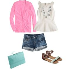 """""""Pink and Mint"""" by lizzi43 on Polyvore"""