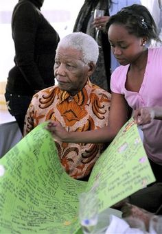 Nelson Mandela and his great granddaughter Zenani Mandela Nelson Mandela Family, Freedom Fighters, Revolutionaries, New Woman, World Cup, Presidents, How To Become, Africa, Inspired