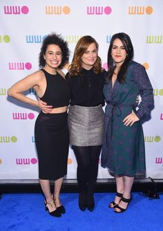 Actresses Ilana Glazer, Amy Poehler and Abbi Jacobson attend Worldwide Orphans 11th Annual Gala at Cipriani on November 16, 2015 in New York City.