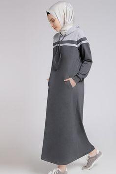 Benin Koyu Gri Kapüşonlu Elbise - http://alisveris.yesiltopuklar.com/benin-koyu-gri-kapusonlu-elbise.html