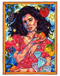 Marina and the Diamonds Art Print Copic Marker Art Marina