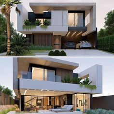 Architecture Discover Top 30 Most Beautiful Houses Front Designs 2019 Modern Exterior House Designs, Modern House Facades, Dream House Exterior, Modern Architecture House, Modern House Design, Exterior Design, Architecture Design, Amazing Architecture, Bungalow Haus Design