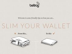 Got a bulky wallet? Here's some friendly tips on how you can slim your wallet.