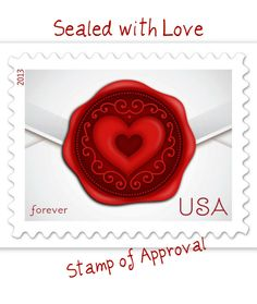 love postal stamps | Sealed with Love Postage Stamp
