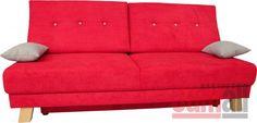 Pohovka rozkládací červená LARGO