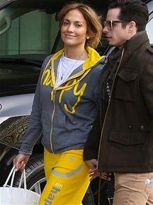 Jennifer Lopez Sporting Peace Love World Sweat Suit Super Cute And Comfy