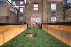 Beton an Backstein - Shortlist des Extension Prize London Garden Studio, Home Studio, London Architecture, Interior Architecture, British Architecture, Architecture Details, Sunken Bath, University Housing, Council House