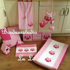 Set uiltje EMILY fuchia en licht roze