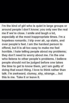 I'm the kind of girl .. <3