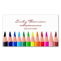 Stylish beauty salon business card template appointment business colored pencils teachers business card flashek Images