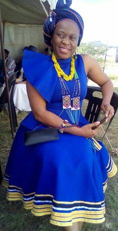Uthando designs,Xhosa girl African Print Dresses, African Print Fashion, African Wear, African Dress, African Prints, Xhosa Attire, African Fashion Traditional, Shweshwe Dresses, Elegant Dresses For Women