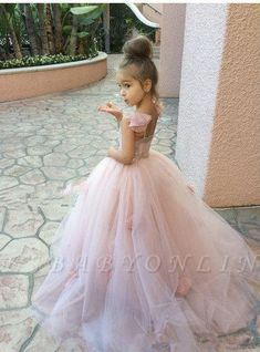 Flower Girl Dress - Flower Girl - Blush Pink Dress - Lace Dress - Bridal - Wedding Dress by Isabella Couture Tulle Flower Girl, Blush Pink Dresses, Cheap Flower Girl Dresses, Pink Tulle, Flower Girls, Pink Lace, Tulle Flowers, Girls Dresses Online, Girls Pageant Dresses