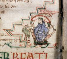 Oldest self-portrait of a medieval illuminator