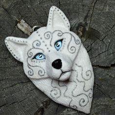 polymerclay handmade whitewolf
