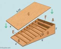 Here 39 s a skateboard ramp plan that is actually pure genius for Skateboard chair plans