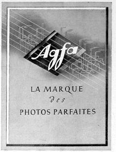 Vintage , old ads , France 1943 , anciennes publicités, AGFA