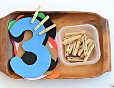 Montessori Preschool, Montessori Education, Numbers Preschool, Learning Numbers, Kids Education, Preschool Learning Activities, Kindergarten Math, Toddler Activities, Preschool Activities