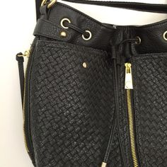 """Steve Madden convertible bag Steve madden convertible backpack to cross body bag with gold hardware drawstring and side pockets. The body and trim are 100% polyurethane in the lining is 100% polyester. In brand-new condition barely ever used. measurements are 13 1/4""""wide, 11 1/4""""heigh,  and the depth is 6"""". Strap on the bag one extended fully is 18 3/4 long. Steve Madden Bags Crossbody Bags"""