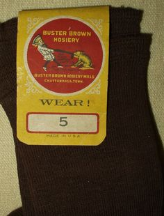Buster Brown Vintage Children Socks Hosiery Vintage Early 1900's  1920's Cotton Knit Stockings With Label by TheGatheringVintage on Etsy