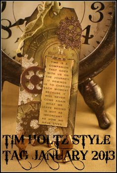 Tim Holtz style tag January 2013