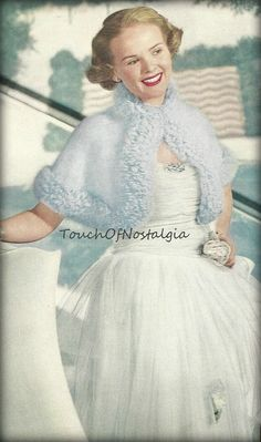 ANGORA Capelet Knitting Pattern  CROPPED by touchofnostalgia7