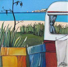 Napier Camping (2010) - Jane New Zealand artist