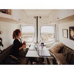 Our favorite place to work is in our van. We built our van with our business in mind, which is why we chose to design the layout with a table that turns into a bed. ____________________________________ One thing a lot of people as us is - what do we do f