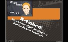 S-Cubed:  Successful Sight Singing for Middle School Choir Teachers and Students is a course that was developed by Mr D during his 22 years of teaching chorus to this age group.Endorsed and used by the Choral program in Durham School of the Arts in Durham, NC, and programs around the world!Think of the S-Cubed Sight Singing system as a workshop-lesson plan combination that includes video teaching links and video teaching tip links to help buyers have at their fingertips many varied tools to…