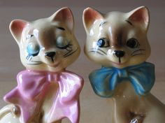 Vintage Flirting Siamese Cat Couple Ceramic S by thetoadhouse, $24.99