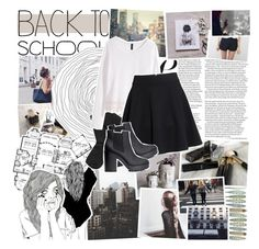 """""""BTS - Outfit Idea + Studying Tip"""" by vanessadxy ❤ liked on Polyvore featuring H&M, Made of Me, BackToSchool, ootd, outfitidea, magazineset, btsoutfit and MeenaGotTagged"""