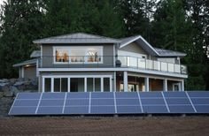 Solar PV recently installed at a residential home near Nanaimo, BC